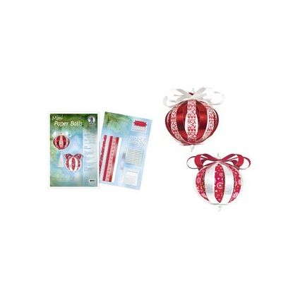 "URSUS Designstreifen Mini Paper Balls ""Yule Ornaments"""