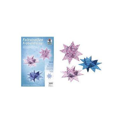 URSUS Faltpapierstreifen für Fröbelsterne, pink/blau/weiß