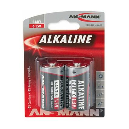 """ANSMANN Alkaline Batterie """"RED"""", Baby C LR14, 2er Blister"""
