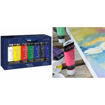 KREUL Acrylfarbe el Greco, 75 ml, 6er-Set