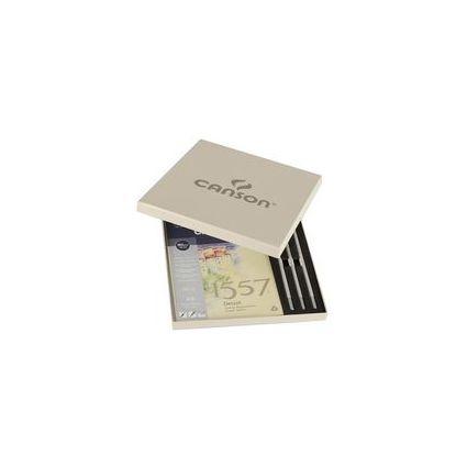 """CANSON Zeichen-Set """"1557"""", 4-teilig, in beigefarbener Box"""