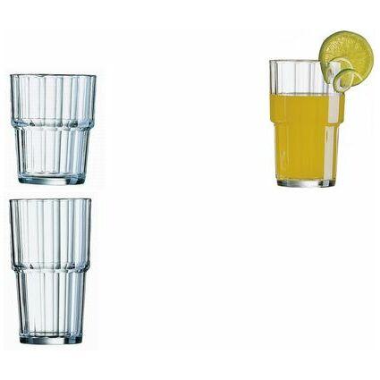 "Esmeyer Arcoroc Saftglas ""Norvege"", 0,25 Liter, stapelbar"