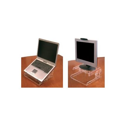 FKV Monitor-/Notebook-Ständer, Acryl, höhenverstellbar
