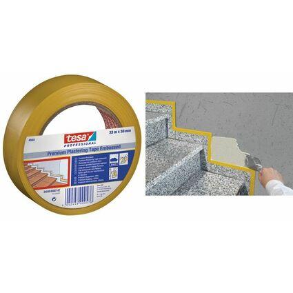 tesa Putzband 4840 Premium, quergerillt, 50 mm x 33 m, gelb