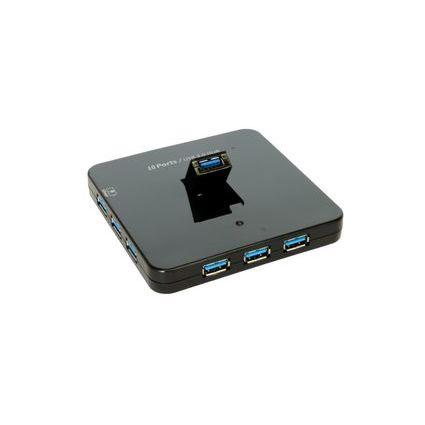 EXSYS USB 3.0 HUB mit 10 Ports, 1 x Mini B-Buchse Upstream