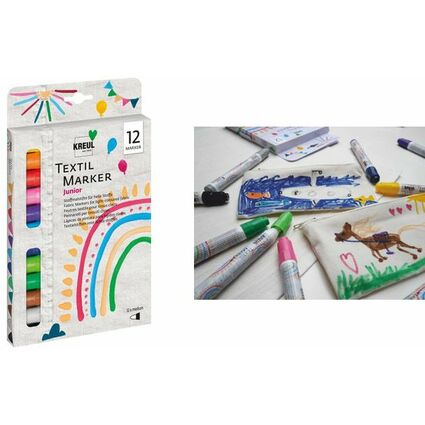 "KREUL Textilmarker JAVANA ""texi mäx medium"", 12er-Set"