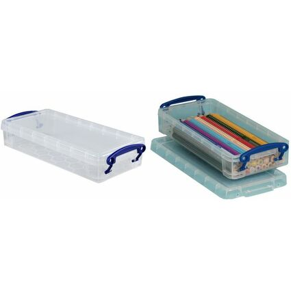 Really Useful Box Aufbewahrungsbox 0,55 Liter, transparent