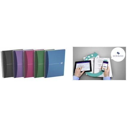 Oxford Office Spiralbuch, DIN A5, kariert, 50 Blatt, PP