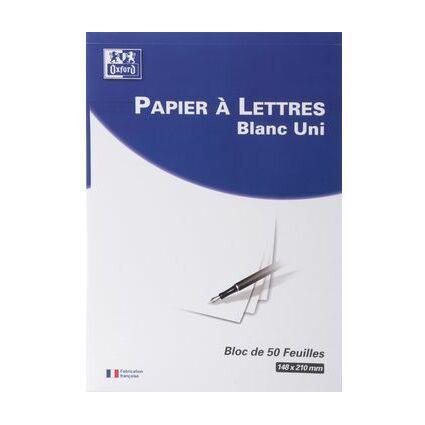 Oxford Briefblock, DIN A5, blanko, weiß