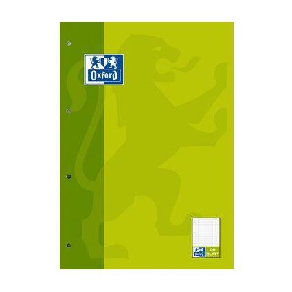 Oxford Schulblock KarLi, DIN A4, 50 Blatt, kopfgeleimt