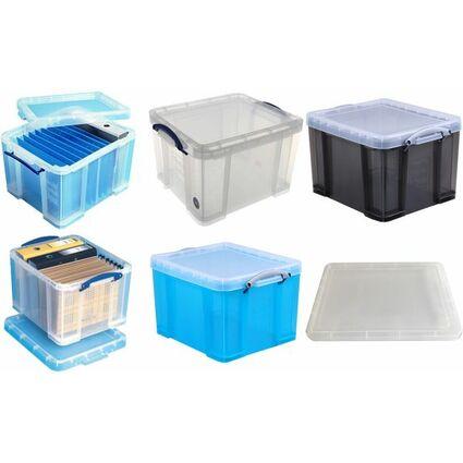 Really Useful Box Aufbewahrungsbox 35 Liter, transparent