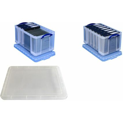 Really Useful Box Aufbewahrungsbox 48 Liter, transparent