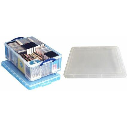 Really Useful Box Aufbewahrungsbox 50 Liter, transparent
