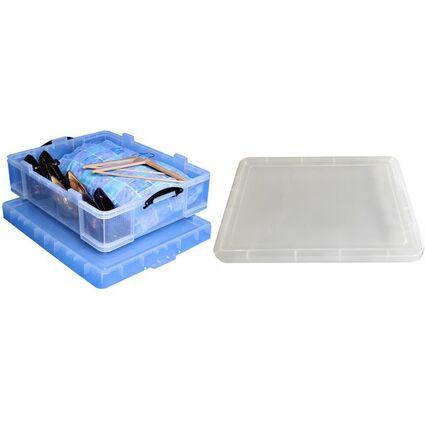 Really Useful Box Aufbewahrungsbox 70 Liter, transparent