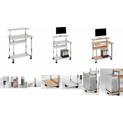 DURABLE PC-Arbeitsplatz SYSTEM Computer Trolley 80 VH
