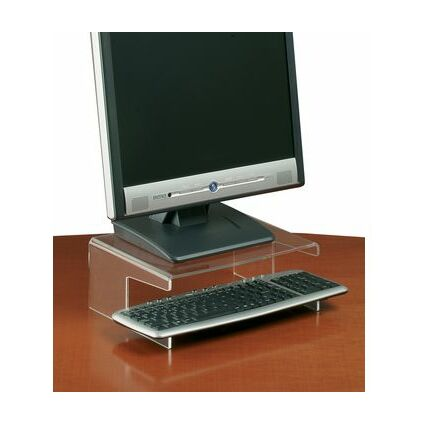 FKV Acryl-TFT/-LCD-Monitorständer, Acryl, mit Tastaturfach