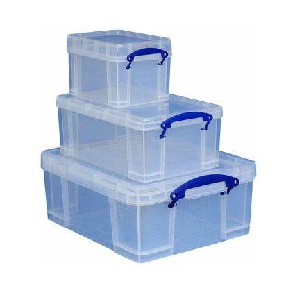 Really Useful Box Aufbewahrungsbox 3er-Set, 3 L, 9 L, 18 L