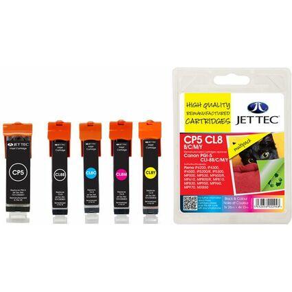JET TEC wiederbefüllte Tinte CL8C/M/Y ersetzt Canon CLI-8