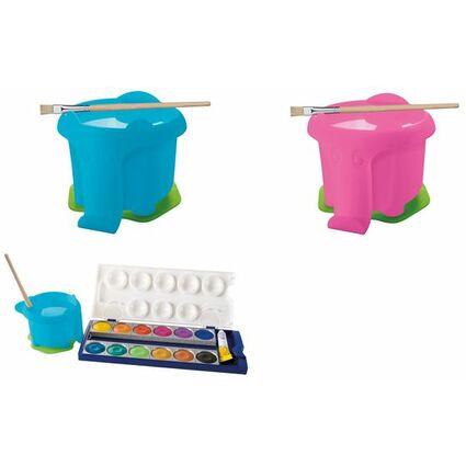 Pelikan Wasserbox für Deckfarbkasten K12, blau