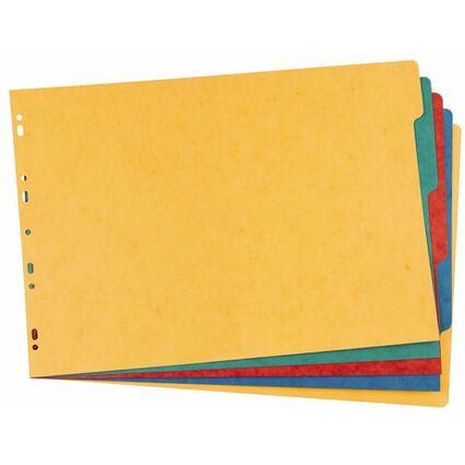 ELBA Karton-Register, blanko, DIN A3 quer, farbig, 5-teilig