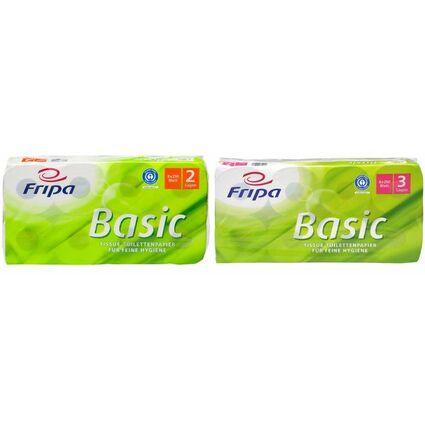 Fripa Toilettenpapier Basic, 3-lagig, weiß
