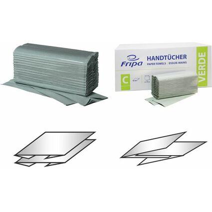 Fripa Handtuchpapier, 250 x 230 mm, V-Falz, grün