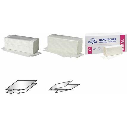 Fripa Handtuchpapier Ideal, 250 x 500 mm, C-Falz, hochweiß