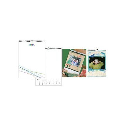 HEYDA Kreativ-Wandkalender, DIN A4, weiß