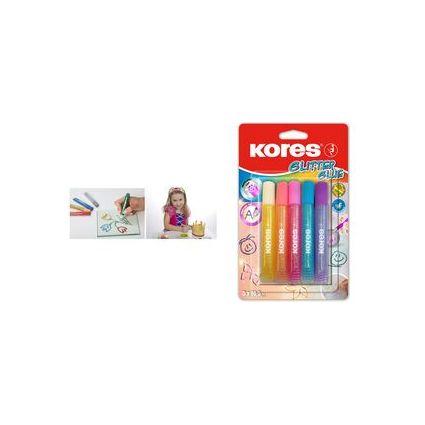 """Kores Flüssigkleber """"Glitter Glue"""", farbig sortiert"""