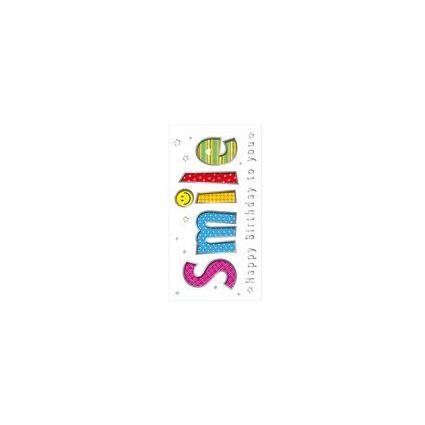 """SUSY CARD Geburtstagskarte """"Smile"""""""
