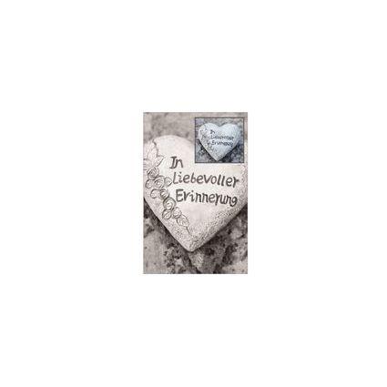 """SUSY CARD Trauerkarte """"Herz aus Stein"""""""