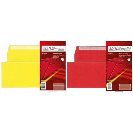 MAILmedia Briefumschlag, C6/5, ohne Fenster, gelb