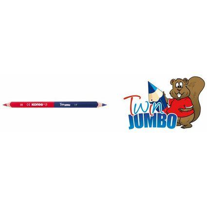 Kores Dreikant-Lehrerbuntstift TWIN Jumbo, blau/rot