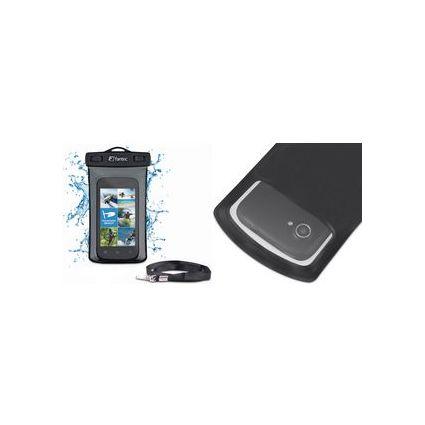 fantec wasserabweisende Smartphone-Schutzhülle ST-S4,schwarz