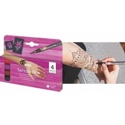 KREUL Tattoo Pen Hobby Line, 4er-Set