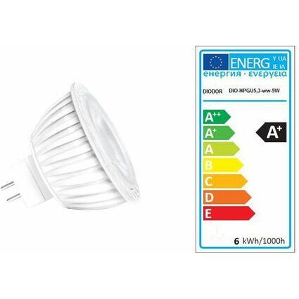DIODOR LED-Lampe MR16-Strahler, 5 Watt, Sockel: GU5.3