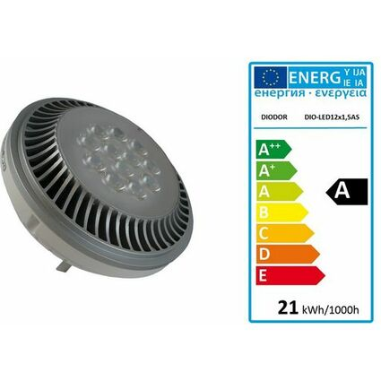 DIODOR LED-Lampe AR111-Strahler, 19 Watt, Sockel: GU53