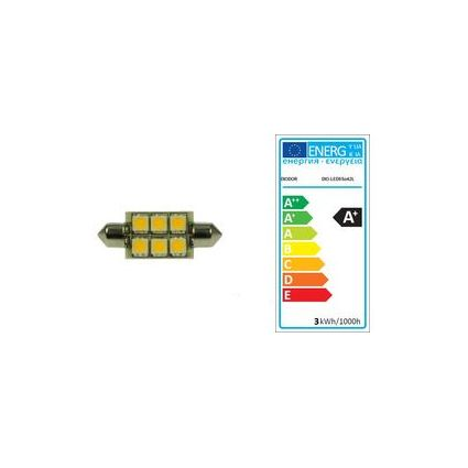 DIODOR LED-Lampe SMD Soffitte, 1,2 Watt, Länge: 37 mm
