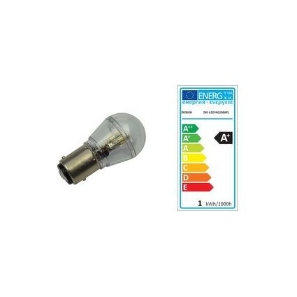 DIODOR LED-Lampe 16er Stiftsockel, 0,8 Watt, Sockel: BAY15d