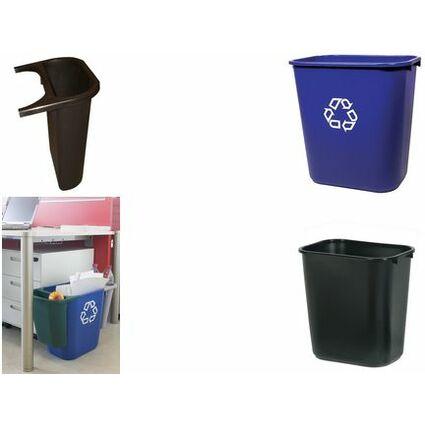 Rubbermaid Zusatzbehälter für Papierkorb, schwarz