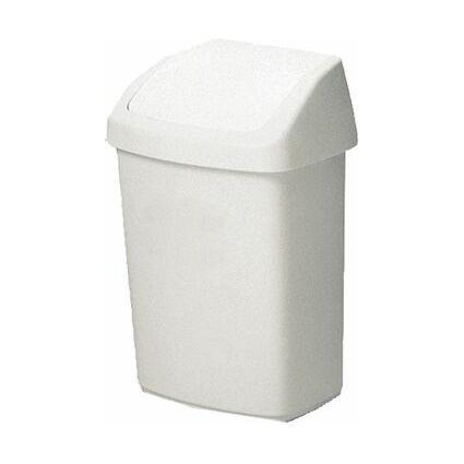 curver Schwingdeckeleimer, rechteckig, 25 Liter, weiß