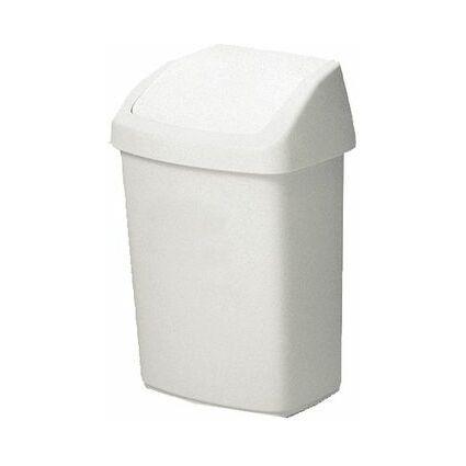 curver Schwingdeckeleimer, rechteckig, 50 Liter, weiß
