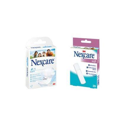 3M Nexcare Pflaster Soft, weiß, 20 Streifen à 25 x 72 mm