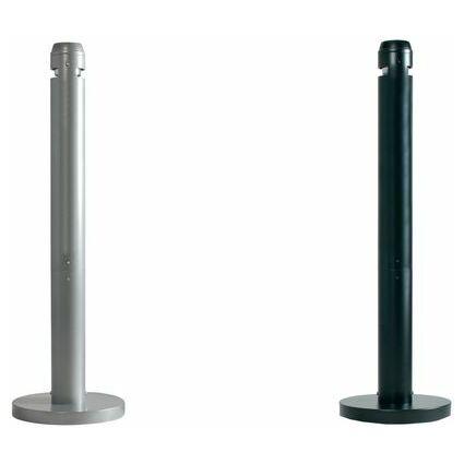 Rubbermaid Standascher Smokers' Pole, rund, schwarz