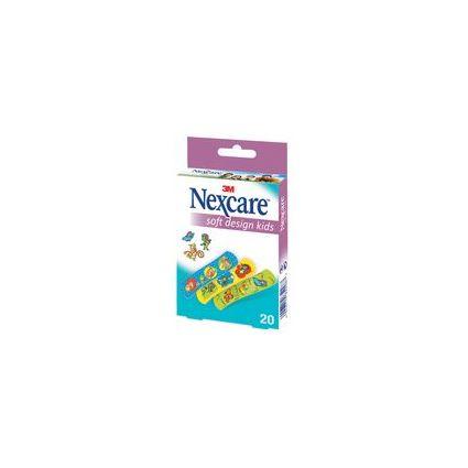 3M Nexcare Kinder-Pflaster Soft Design Kids, 20 Streifen
