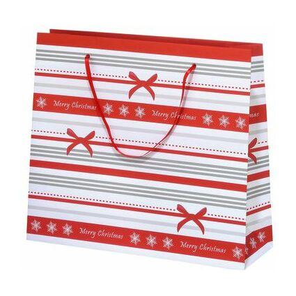 """SUSY CARD Weihnachts-Geschenktüte """"Schleifen Streifen"""" groß"""
