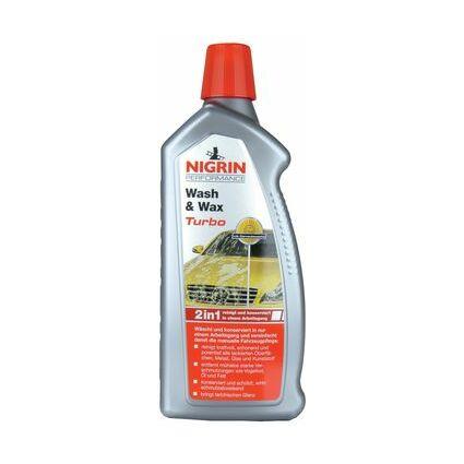 NIGRIN Performance Wash & Wax Turbo Auto-Shampoo, 1 l