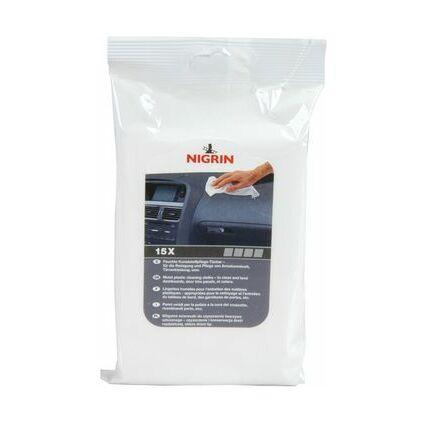 NIGRIN Kunststoffpflege-Tücher, Inhalt: 15 feuchte Tücher