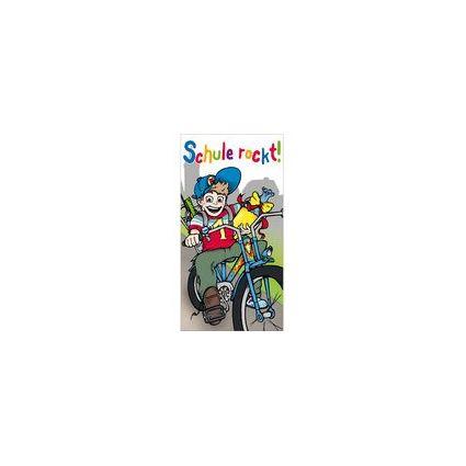 """SUSY CARD Schulanfangs-Grußkarte """"Max mit Fahrrad"""""""