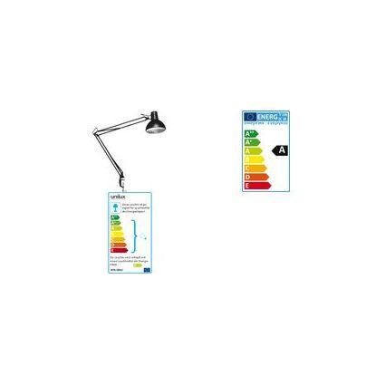 unilux Energiespar-Tischleuchte SUCCESS 105, Farbe: schwarz